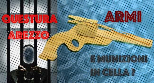 armi e munizioni in cella