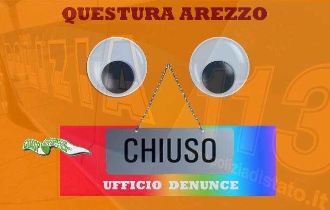QUESTURA AREZZO COISP UFFICIO DENUNCE