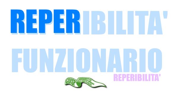 REPERIBILITA FUNZIONARIO - COISP