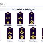 distintivi di qualifica POLIZIA DI STATO - DIRETTIVI e DIRIGENTI